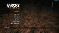 Far Cry Primal Menu 16x9