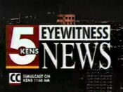 KENS Channel 5 Eyewitness News at 10 Open 1995