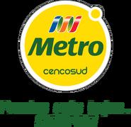 Metro logo 2011 con eslogan (septiembre 2011-2012)
