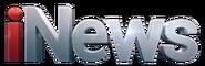 INews white 3D style logo