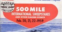 1959 daytona 500 program