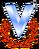 Logo de venevision 1981-1985 sin texto con sombra