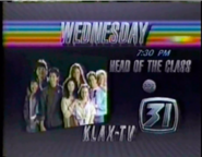 KLAX-TV ABC's Head of the Class promo 2