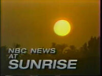 NBC News at Sunrise 1989 a