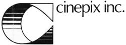 Cinepix Inc 1970s logo with text