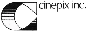 Cinepix Inc 1970s logo with text