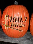 WHUD-FM's 100.7's Happy Halloween Logo From Late October 2012