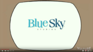 Blue Sky studios logo on TV