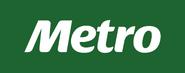 Metro logo 2011-2013 con fondo verde