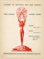 3rd Primetime Emmy Awards poster