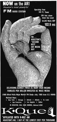 KQUE-FM Houston 1960