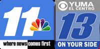 KYMA-DT News 11 CBS 13 logos