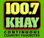 KHAY 100.7 logo