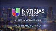 Kbnt noticias univision san diego 11pm mas tiempo contigo promo 2019