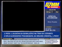 DZMM TeleRadyo Headlines News On Screen Bug