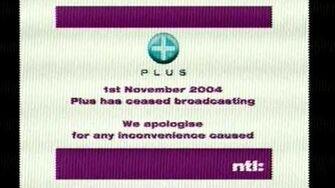 Plus's Closedown slide, as seen on November 23rd, 2010