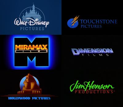 Disney companies' cel-animated logos (1990s)