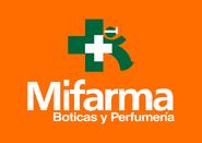 MiFarma logo 2005 apilado con fondo