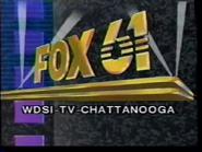 WDSI-TV Fox 61 Chattanooga station ID (1990)