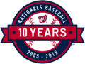 Washington Nationals logo (10th anniversary)