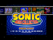 Sonic Mega Collection Title Screen 4x3 Open Matte