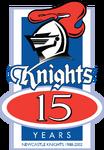 Newcastle Knights 15th Anniversary Logo (2002) (ALT)