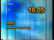 Polsat 2001 TV schedule ident