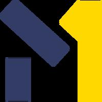 M1 (Украина) (1-ый логотип жовто-синого цвета)