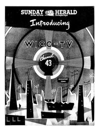 WICC-TV's Channel 43 Video ID From March 1953