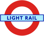 London Transport Light Rail roundel small