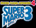 Super Mario Advance 4 Super Mario Bros. 3 Logo Pixelated