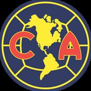 Escudo Club América 2008-2009 Azul