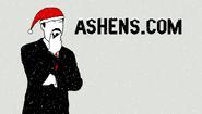 Ashens.com Christmas logo