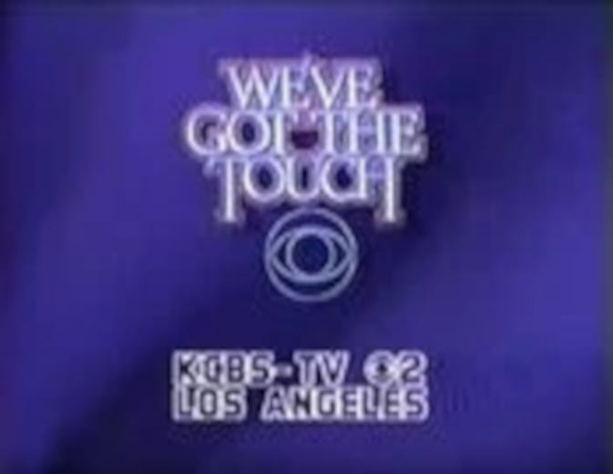CBS-TV27s We27ve Got The Touch Video ID With KCBS-TV Los Angeles Byline - Fall 1984