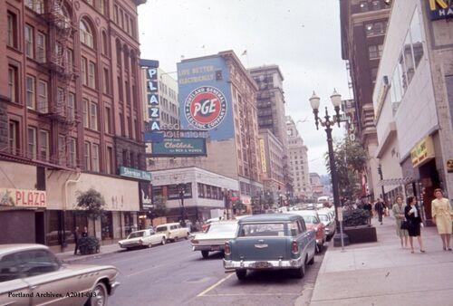 SW Broadway, Downtown PDX, 1964