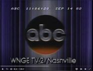 ABC Network ident with WNGE-TV Nashville byline - Fall 1982