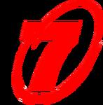 Tv7 number seven of the symbol logo