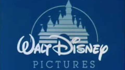 Walt Disney Pictures logo (1985) restored