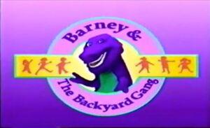Barney and the Backyard Gang title screen
