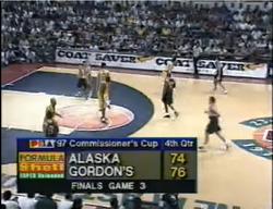 PBA on Vintage Sports scorebug 1997 Com Gov