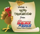 WDBY-FM's The New Kicks 105.5's Happy Thanksgiving Logo From November 2011
