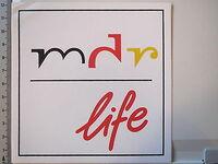 Aufkleber-Sticker-MDR-Life-Radio-Fernsehen-Rundfunk