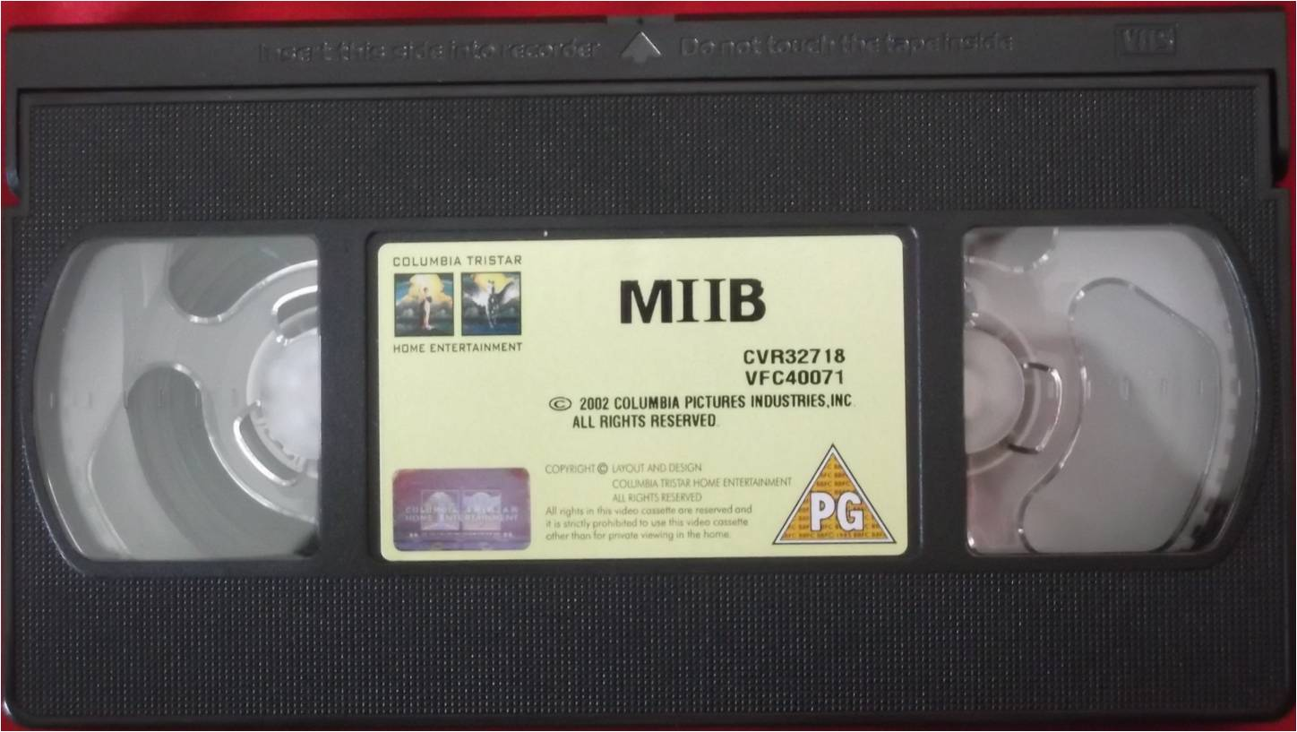 Columbia TriStar Home Video 2002 VHS Tape Example