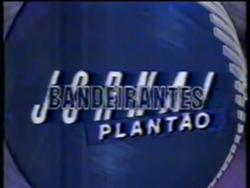 Plantão Jornal Bandeirantes 1990