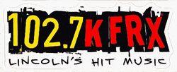 102.7 KFRX logo