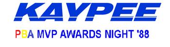 PBA MVP Awards Night logo 1988