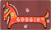 Google Jamini Roy's 130th Birthday (With Brown Background)