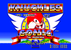 Sonic and knuckles and sonic2 title
