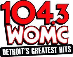 104.3 WOMC logo