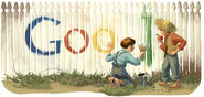 Google Mark Twain's 176th Birthday